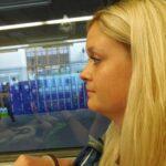 Lagerleiter im Zug
